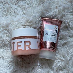 BBW rose water scrub and body cream